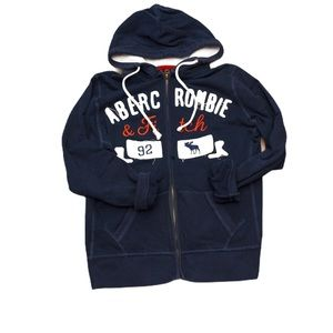 Abercrombie & Fitch   Navy Blue Zipper Hoodie